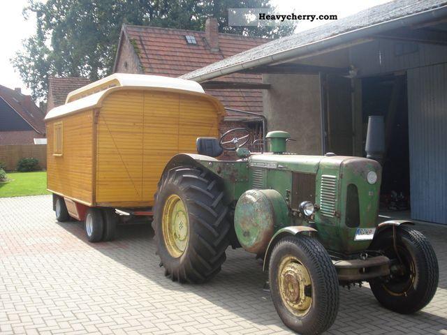 1930 Lanz  Showmen car skylight car Agricultural vehicle Loader wagon photo