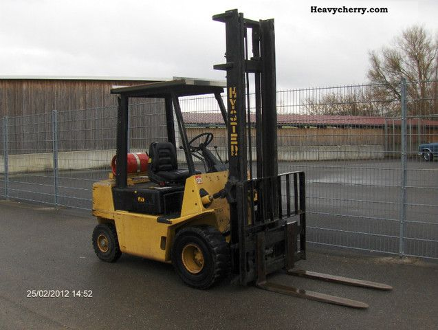 1990 Hyster  2:50 L side shift, only 4520 plant stood Forklift truck Front-mounted forklift truck photo