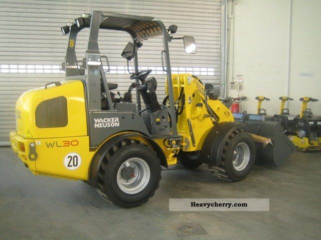 wacker weidemann wl 30 2011 wheeled loader construction. Black Bedroom Furniture Sets. Home Design Ideas