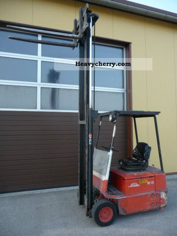 1992 Linde  E 15 telescopic mast Forklift truck Front-mounted forklift truck photo