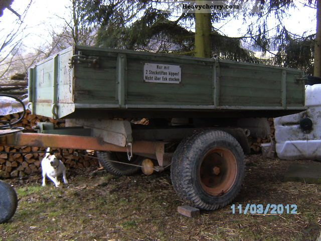1980 BNG  c 4000 Trailer Three-sided tipper photo
