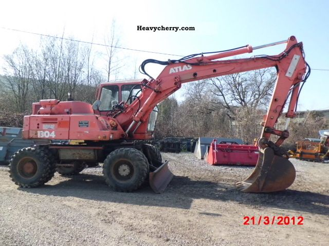 1988 Atlas  1304 AW EA only 5456 operating hours Construction machine Mobile digger photo