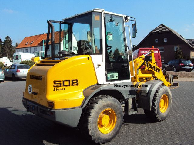 2008 Liebherr  508 Stereo / bucket / forks Construction machine Wheeled loader photo
