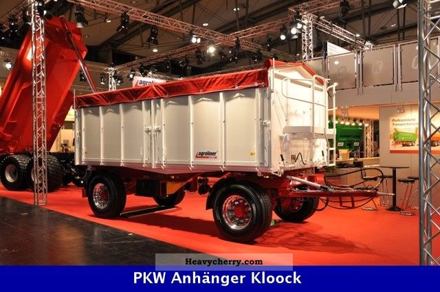 2011 Kroeger  Two axle three-sided dump trailers Agroliner Trailer Three-sided tipper photo