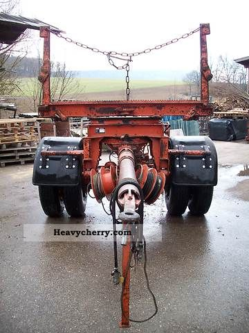 1983 Doll  Doll-long single-axle trailer + stool material Trailer Timber carrier photo