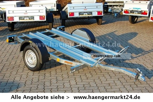 2011 Neptun  PM Open to 2 750 motorcycle trailer tilted Mot. Trailer Motortcycle Trailer photo