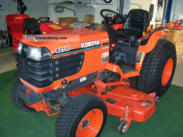 2011 Kubota  B 2710 HST with mower Agricultural vehicle Tractor photo