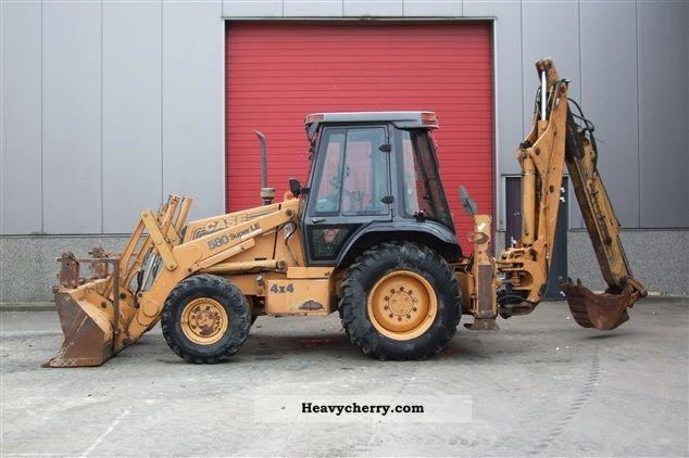 1997 Case  580 Super LE Construction machine Combined Dredger Loader photo