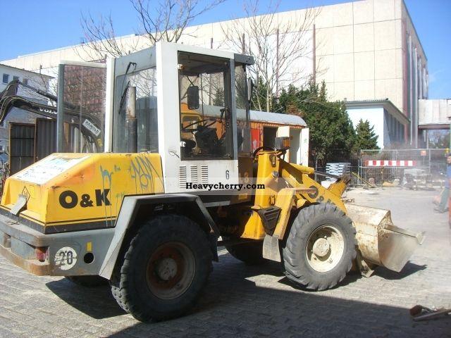 1998 O & K  O \u0026 K L8-1 Construction machine Wheeled loader photo