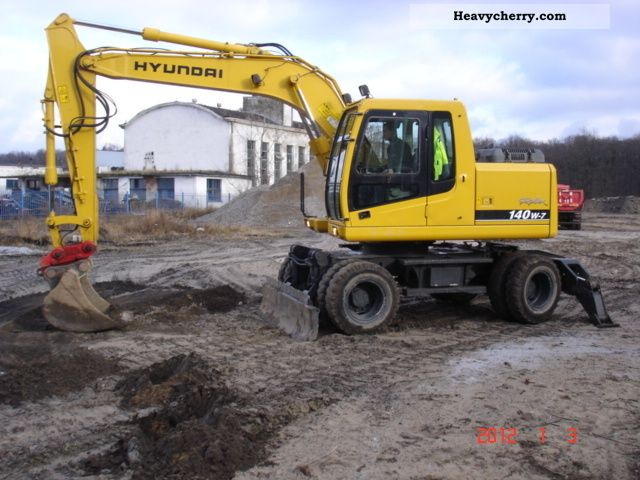 2005 Hyundai  140W Construction machine Mobile digger photo