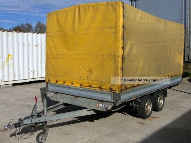 2001 Heinemann  Car tandem trailer with tarpaulin Trailer Stake body and tarpaulin photo
