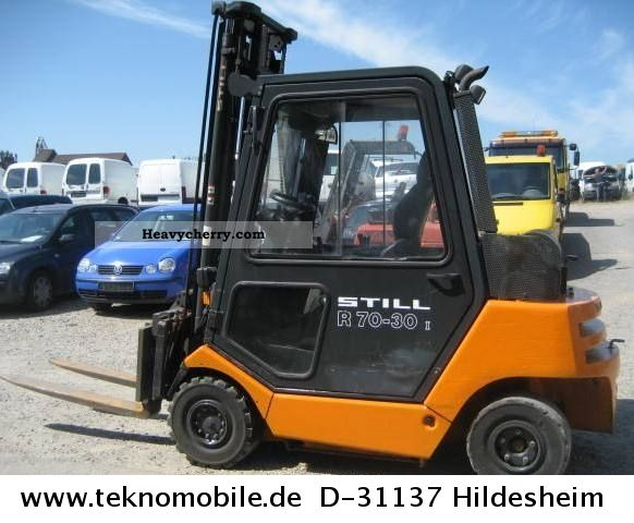 2004 Still  Diesel Forklift Truck R 70-30 SOOT PARTICLE I Forklift truck Front-mounted forklift truck photo