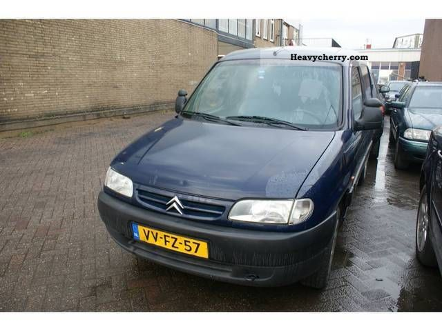 citroen citroen berlingo 1 9 d 1998 box type delivery van photo and specs. Black Bedroom Furniture Sets. Home Design Ideas