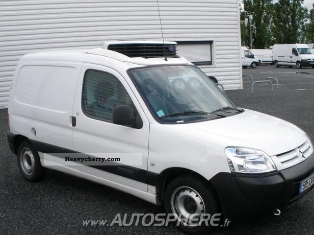 citroen citroen berlingo 600kg hdi75 first 2007 refrigerator box truck photo and specs. Black Bedroom Furniture Sets. Home Design Ideas
