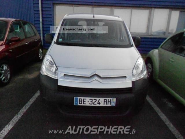 2010 Citroen  Citroen Berlingo 625kg Fgtte HDi75 Confort Van or truck up to 7.5t Box-type delivery van photo