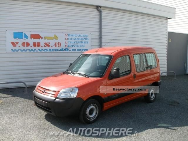 2006 Citroen  Citroen Berlingo 600kg Fgtte HDi75 Eco Van or truck up to 7.5t Box-type delivery van photo