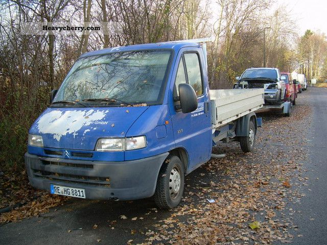 2000 Citroen  Citroën Jumper long aluminum flatbed torn belt Van or truck up to 7.5t Stake body photo