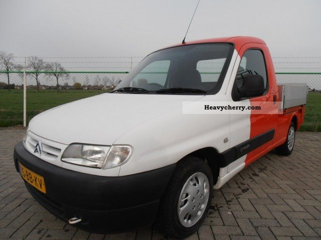 citroen citroen berlingo 1 9 d truck open laadbak 2002 chassis truck photo and specs. Black Bedroom Furniture Sets. Home Design Ideas