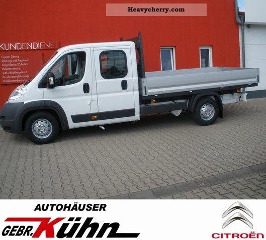 2011 Citroen  Citroën Jumper Doka platform 35 L4 130 HDi air (7 Sit Van or truck up to 7.5t Stake body photo