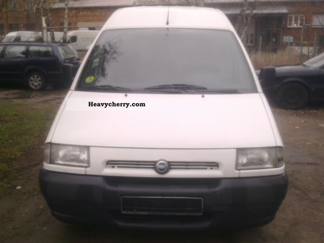 fiat scudo 2001 box type delivery van long photo and specs. Black Bedroom Furniture Sets. Home Design Ideas