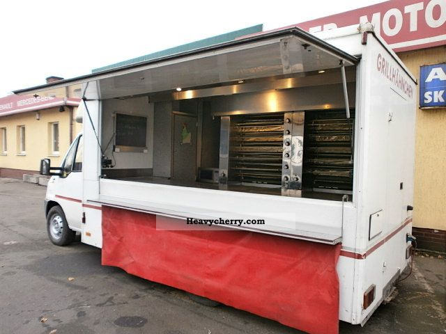 1996 Fiat  Ducato Autogrill * Chicken BBQ * Snack-super! Van or truck up to 7.5t Traffic construction photo