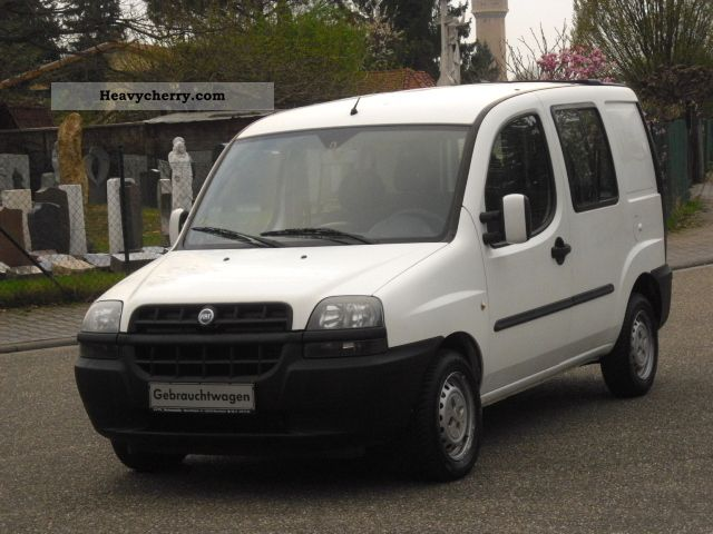 Fiat Doblo 19 Jtd105tkmlkw With Seats 2002 Box Type Delivery