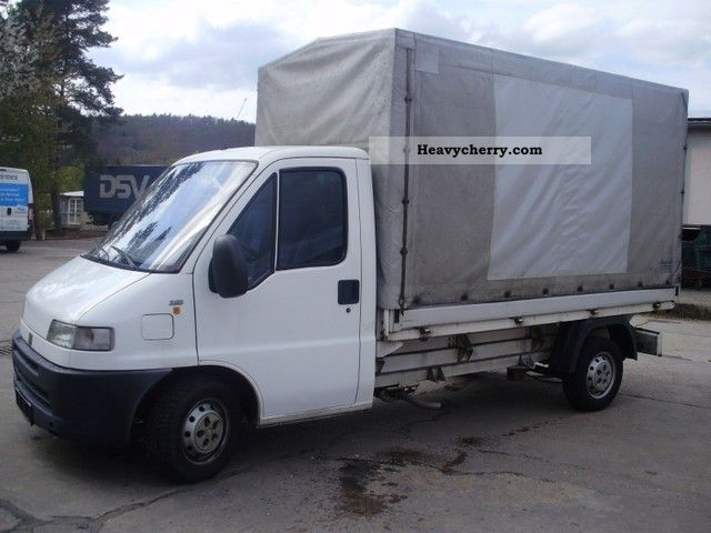 Fiat ducato 2 8d 2000 stake body and tarpaulin truck photo for Interieur fiat ducato 2000