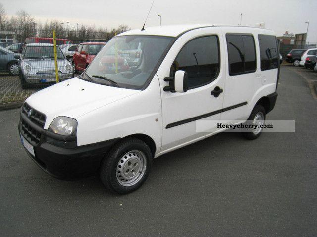2003 Fiat  Doblo 1.2 SX 5-seater 1.Hand Scheckheftgepflegt Van or truck up to 7.5t Estate - minibus up to 9 seats photo