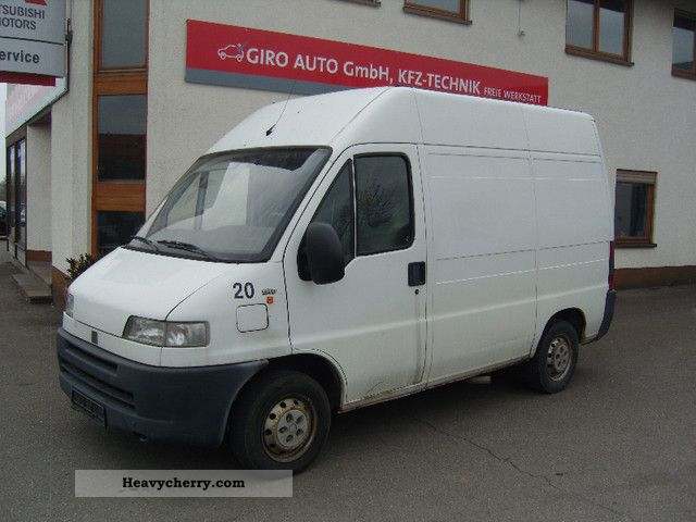 Fiat ducato 1 9d truck admission 2000 box type delivery for Interieur fiat ducato 2000