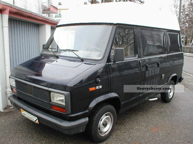 fiat ducato 1989 traffic construction truck photo and specs. Black Bedroom Furniture Sets. Home Design Ideas