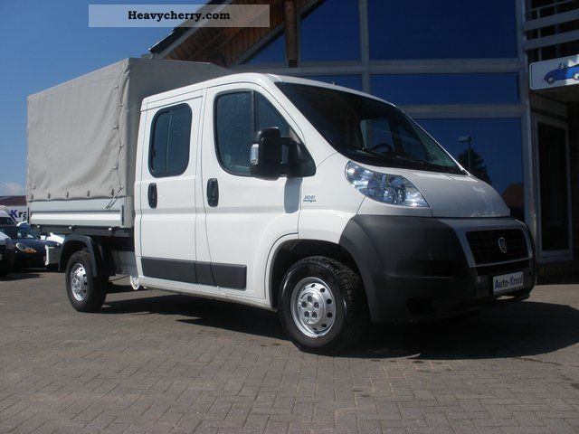 fiat ducato 2 2 jtd 33 doka tarp 6 sit 2008 stake body truck photo and specs. Black Bedroom Furniture Sets. Home Design Ideas