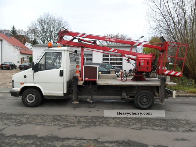 1992 Fiat  Ducato cherry-picker lift TÜV again! Van or truck up to 7.5t Hydraulic work platform photo
