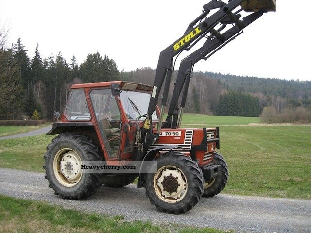 1984 Fiat  70-90 DT-wheel full hydraulic cabin. Front Loading Agricultural vehicle Tractor photo