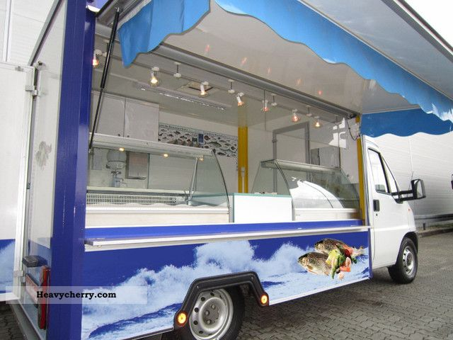 1998 Fiat  Meat delicatessen fish seafood sales mobile Van or truck up to 7.5t Traffic construction photo