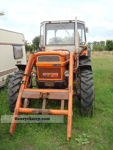 1975 Fiat  1000-1 DT-end loader, trailer hitch, wheel, servo Agricultural vehicle Tractor photo