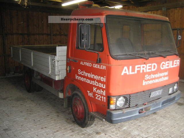 1981 Fiat  50 F 8 Platform Van or truck up to 7.5t Stake body photo