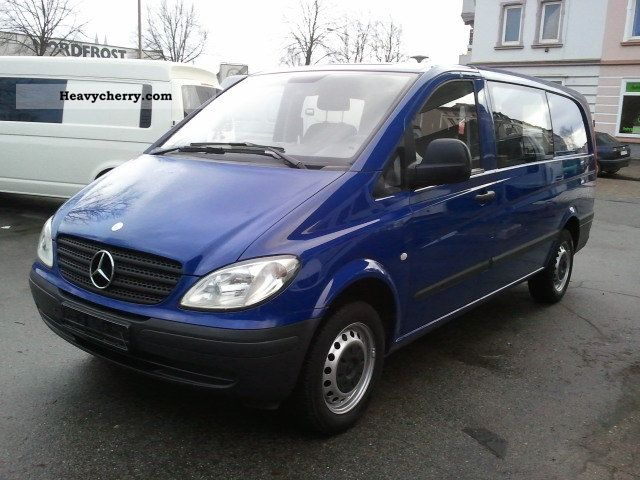 mercedes benz vito 109 cdi mixto net compact 7500 2006 box type delivery van photo and specs. Black Bedroom Furniture Sets. Home Design Ideas