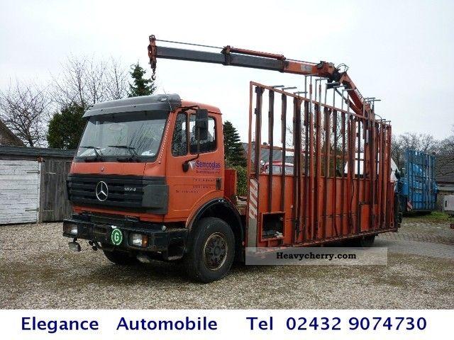 2000 Mercedes Benz 1824 Gl Rear Crane Truck Over 7 5t Mounted