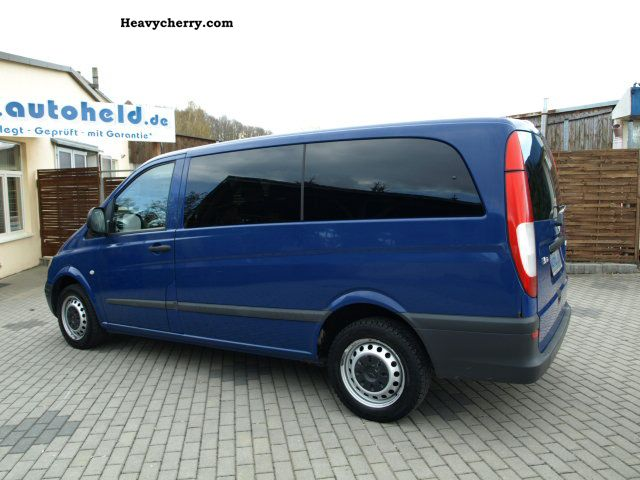 mercedes benz vito 111 cdi bus 9 seats 2004 estate minibus up to 9 seats truck photo and specs. Black Bedroom Furniture Sets. Home Design Ideas