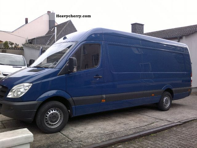 mercedes benz sprinter 315 cdi maxi xxl climate good condition 2008 box type delivery van high. Black Bedroom Furniture Sets. Home Design Ideas