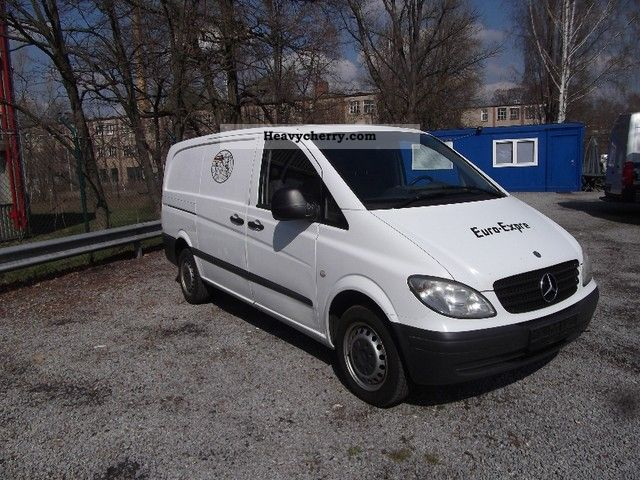 mercedes benz vito 115 cdi long fully air 2005 box type delivery van long photo and specs. Black Bedroom Furniture Sets. Home Design Ideas