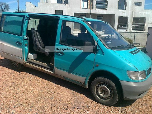 Mercedes benz mercedes vito 110 2 3 td 1996 estate minibus up to 9