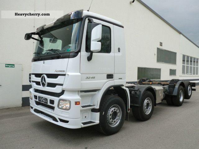 Mercedes benz 8x2 actros 3246l mp3 2010 chassis truck for Mercedes benz trucks price list
