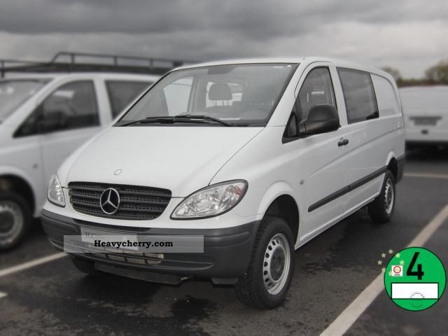 mercedes benz vito 111 cdi automatic dpf mixto 2008 box type delivery van photo and specs. Black Bedroom Furniture Sets. Home Design Ideas