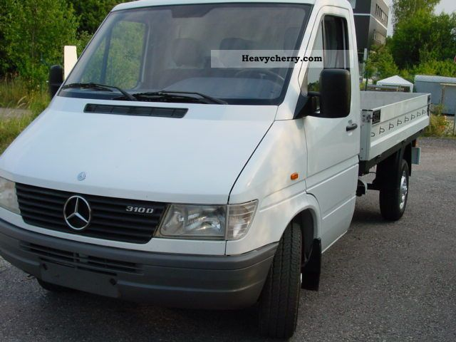 mercedes benz sprinter 310 d platform abs 1999 stake body truck photo and specs. Black Bedroom Furniture Sets. Home Design Ideas