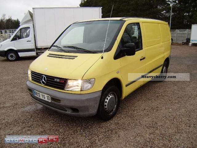 mercedes benz vito 108 cdi klimatyzacja 2002 other vans trucks up to 7 photo and specs. Black Bedroom Furniture Sets. Home Design Ideas