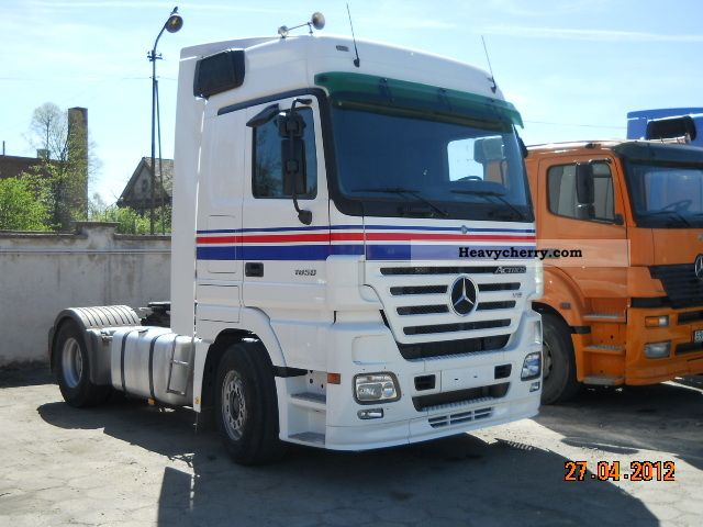 Mercedes benz actros 1850 2005 standard tractor trailer for Mercedes benz semi trucks