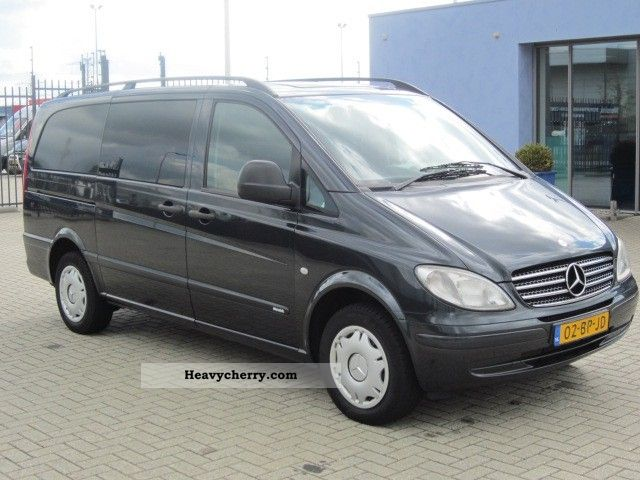 mercedes benz vito 115 cdi long airco 2004 box type delivery van photo and specs. Black Bedroom Furniture Sets. Home Design Ideas