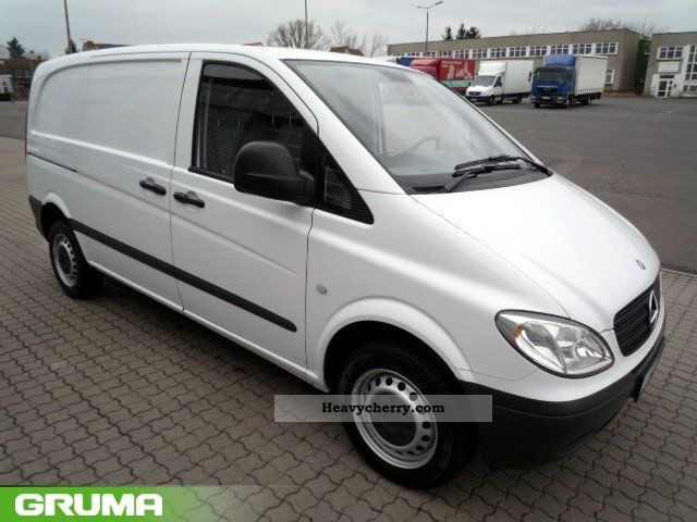 mercedes benz vito 109 cdi climate partition 2007 box type delivery van photo and specs. Black Bedroom Furniture Sets. Home Design Ideas