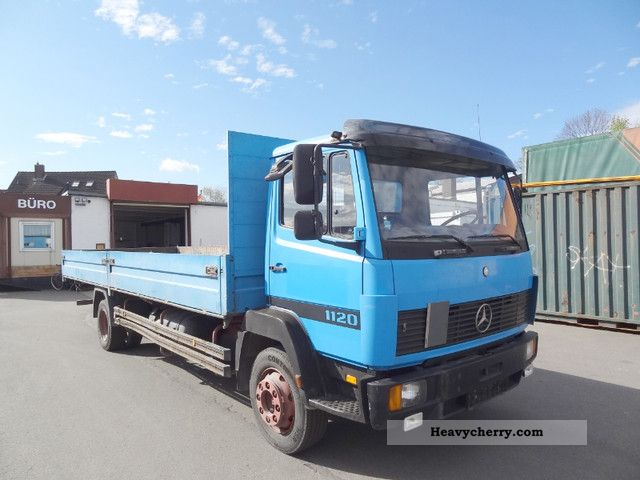 1992 Mercedes-Benz  1120 flatbed STEEL suspension Truck over 7.5t Stake body photo